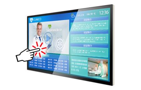 タッチパネルデジタルサイネージ商品仕様|TC55H1|静電容量方式|全面強化ガラス付