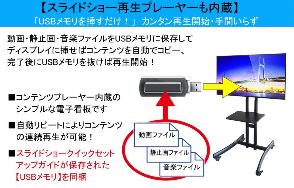 プレイヤー内蔵MA3電子看板