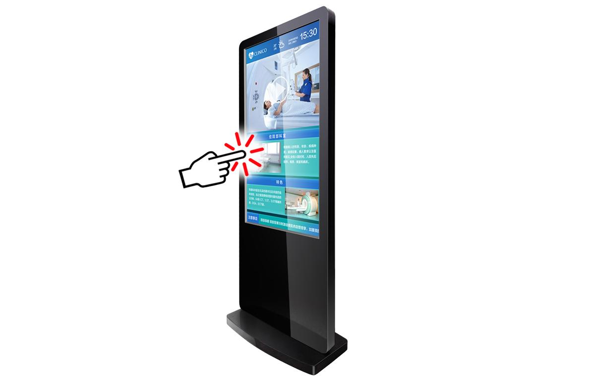 43LT8S, 55LTCSタッチパネル対応コンテンツ作成ソフト付      タッチパネル搭載  自立型電子看板