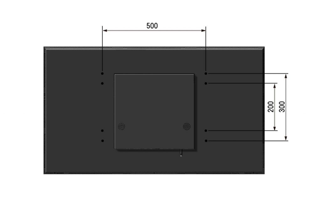 寸法図デジタルサイネージ55MA