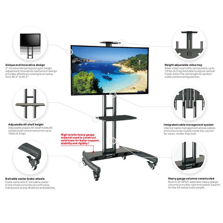 テレビやデジタルサイネージが取付できるモニタースタンド