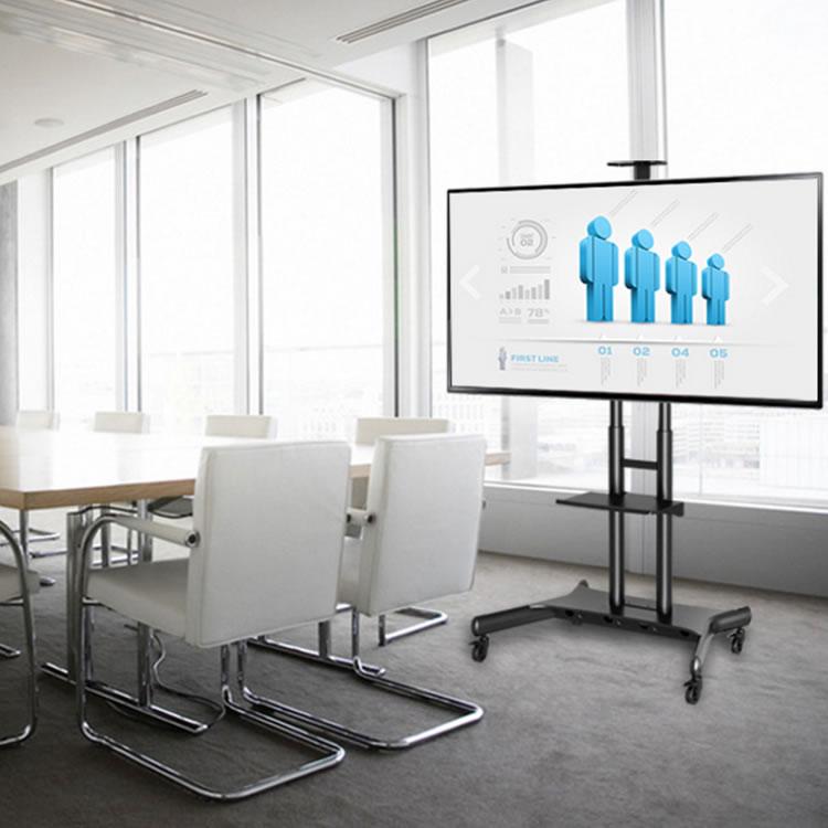 会議室にテレビや電子黒板を簡単に設置できるモニタースタンド