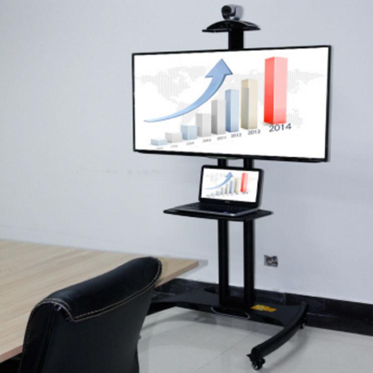 テレビやモニターとパソコンも設置できるモニタースタンド