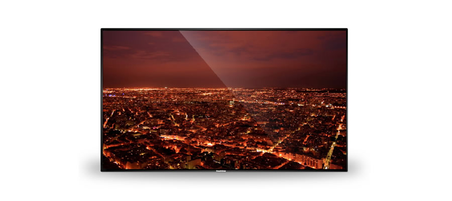 狭額縁の壁面広告用ディスプレイ43インチ
